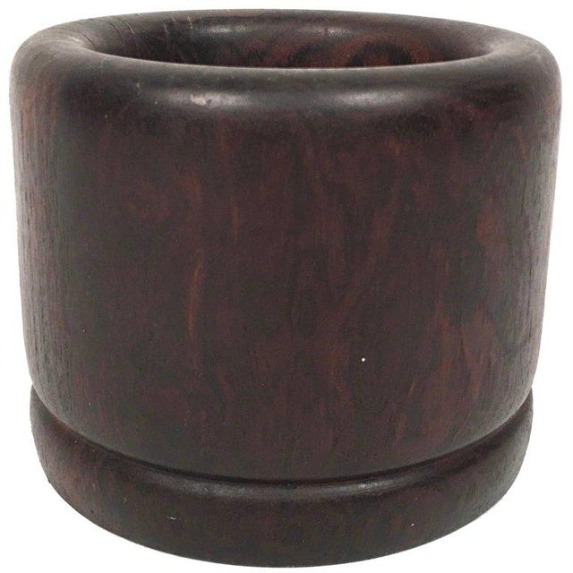 Solid Rosewood Bowl or Vase For Sale - Image 9 of 9
