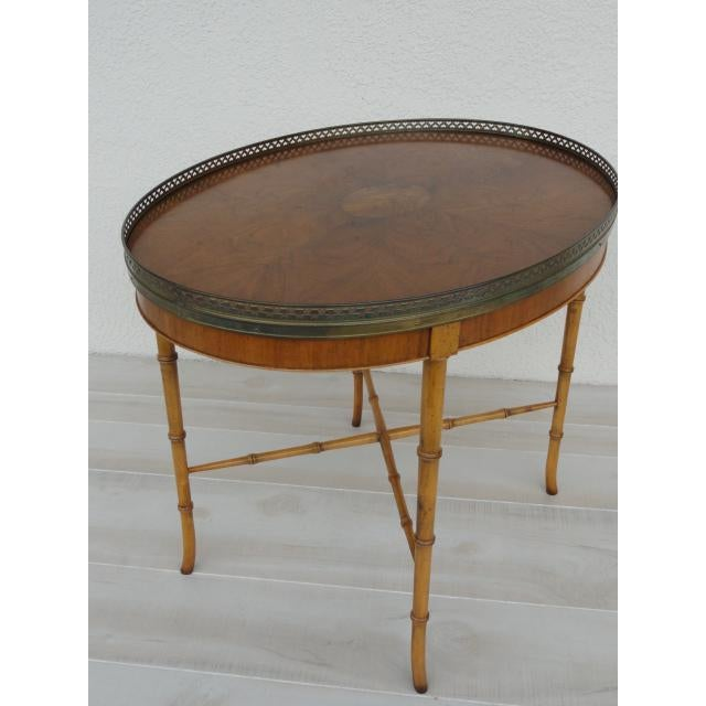20th Century Chinoiserie Holland Salley Baker Furniture End Table For Sale - Image 13 of 13