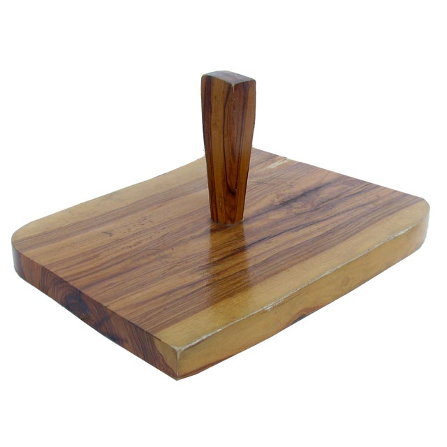Mid 20th Century Artisan-Created Cheese / Charcuterie Board For Sale - Image 5 of 5