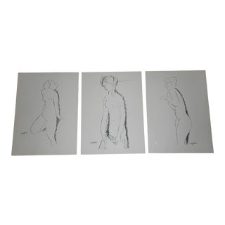 Vintage Mid 20th C. Silkscreens - Modigliani -Female Nudes - Set of 3 For Sale
