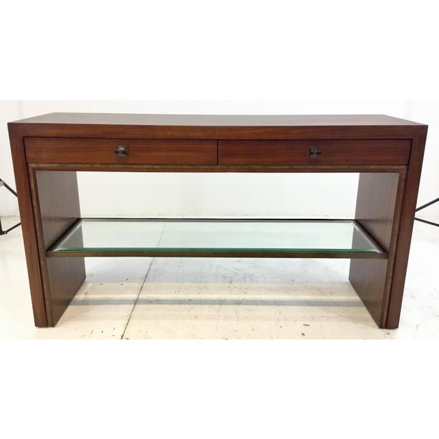 Henredon Modern Mahogany Finished Wood Venue Console Table For Sale In Atlanta - Image 6 of 6
