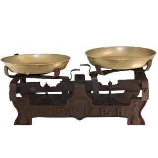 Vintage Table Scale | Rusted Iron Scale For Sale