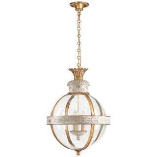 Crown Top Banded Globe Lantern by Chapman Manufacturing Company For Sale