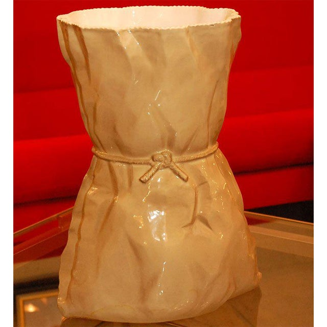 Italian light brown ceramic vase