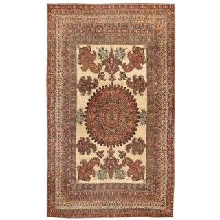 Antique 19th Century Oversize Persian Lavar Carpet For Sale