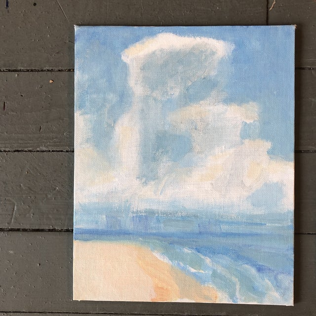 Gallery Wall Collection 3 Contemporary Impressionist Seascape Paintings Set of 3 For Sale - Image 4 of 6