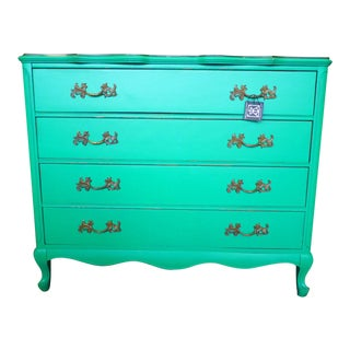 Stunning Fresh Green Vintage Chest