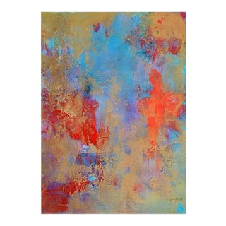 """""""Salsa Sky"""" Contemporary Abstract Acrylic Painting For Sale"""