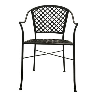 Late 20th Century Woven Bronze Metal Garden Chair For Sale