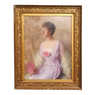 Antique Turn of the Century Society Portrait by Cleveland Artist Harold Streator For Sale