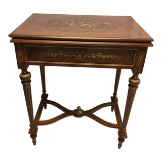 1980s French Flip Top Card Table For Sale