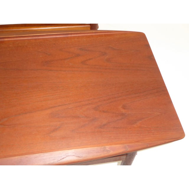 Exquisite Pair Of Grete Jalk For Poul Jeppsen Teak Side End Tables - Teak side table with drawer