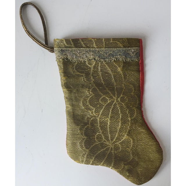 Antique Gold Brocade Stocking Ornament - Image 6 of 6