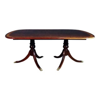 Ethan Allen Mahogany Regency Style Dining Room Table For Sale