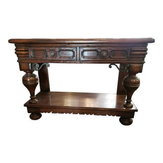Rustic 2 Drawer Wood Console