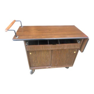 Mid-Century Aris Mfg. Rolling Bar Cart For Sale