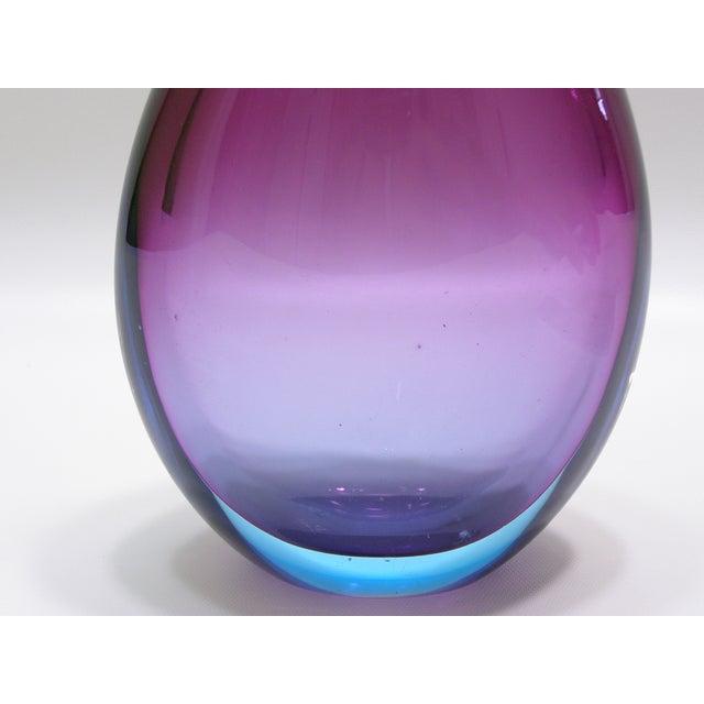 Purple Archimede Seguso Vintage Italian Murano Glass Decanter Mid-Century Modern MCM For Sale - Image 8 of 11
