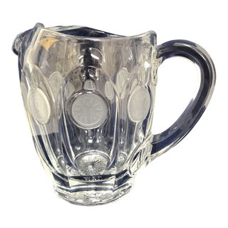 Fostoria Crystal Coin 1 Qt Water Pitcher For Sale