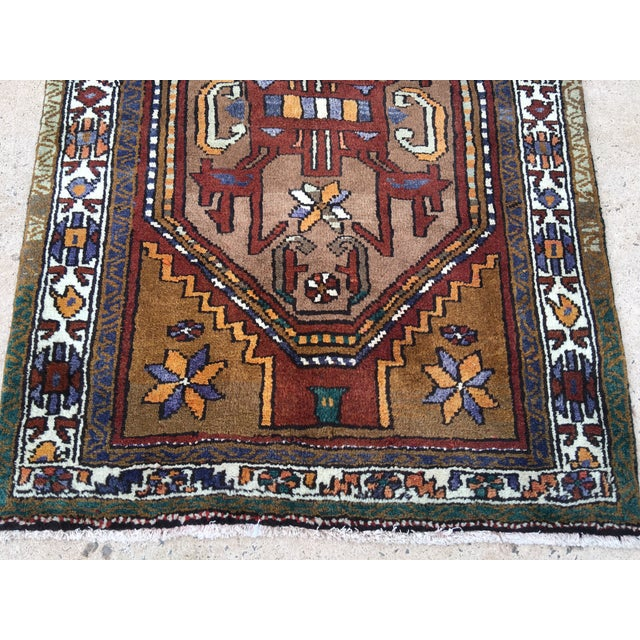 Thick and Heavy and Hearty Persian Kourdish Rug - 3′5″ × 6′5″ - Image 3 of 9