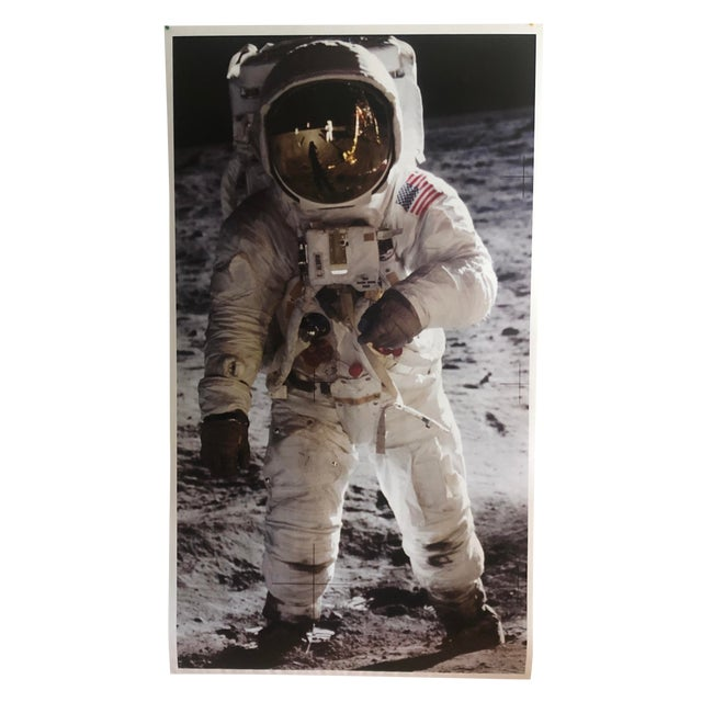 1960s Photorealist Print of a Man on the Moon For Sale
