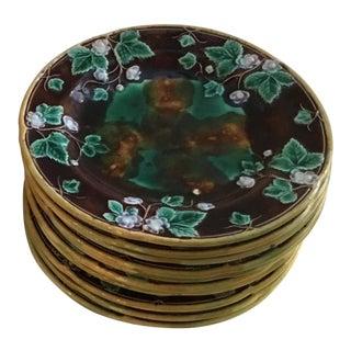 Leaf Motif Plates - Set of 10 For Sale