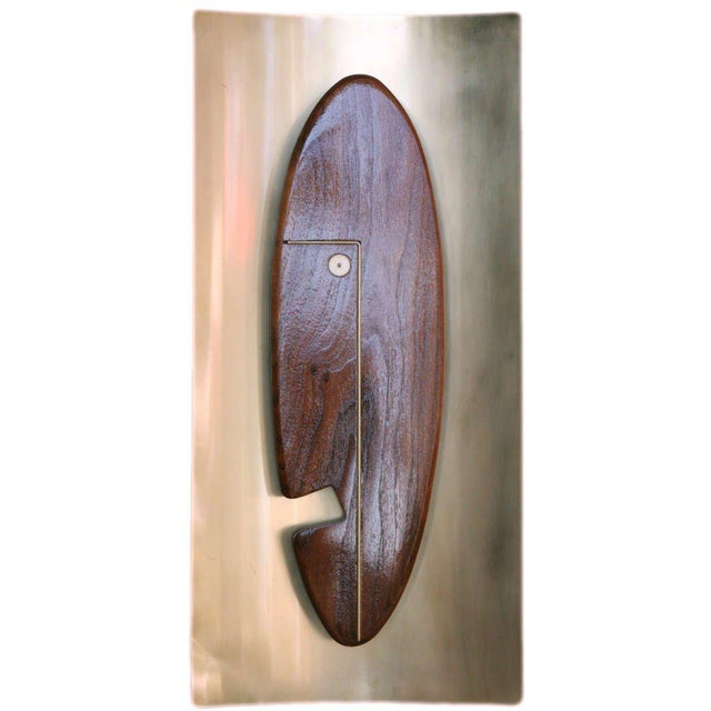 """Mid-Century Modern Mid-Century """"Face"""" Wall Art Sculpture Pair by Westwood Chadwick For Sale - Image 3 of 6"""