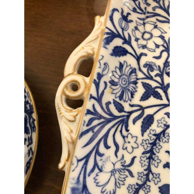 Staffordshire Peacock Pattern English Tea Set For Sale In Philadelphia - Image 6 of 13