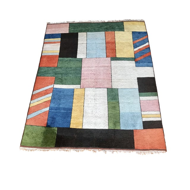 Colorful Turkish Rug, Home Decor, Area Rug 6.6*5.3 Ft. For Sale - Image 12 of 12