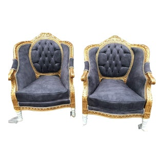1950s Vintage French Louis XVI Style Chairs- A Pair For Sale
