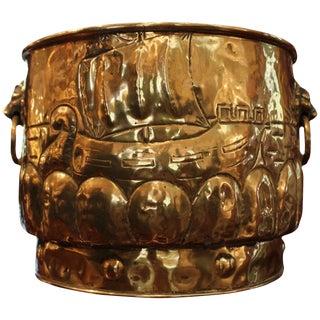 19th Century Antique Brass Jardinière For Sale