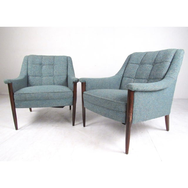 Pair Danish Modern Lounge Chairs For Sale - Image 13 of 13
