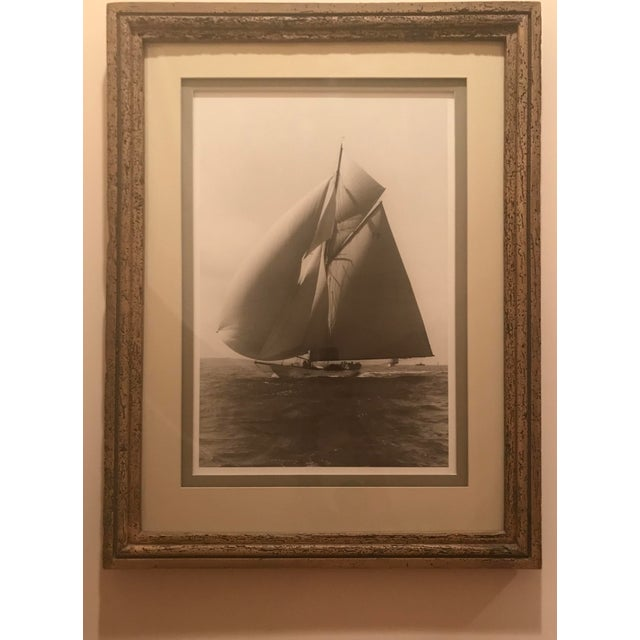 """Framed and Double Shadow Mount Matted """"Candida"""" Black & White Prints From 1923 & The """"Velsheda"""" From 1943 - a Pair For Sale In Atlanta - Image 6 of 13"""