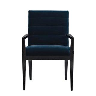 Caracole Modern Blue Velvet Arm Chair