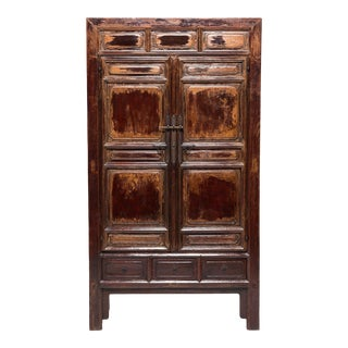 Chinese Early Qing Paneled Cabinet For Sale