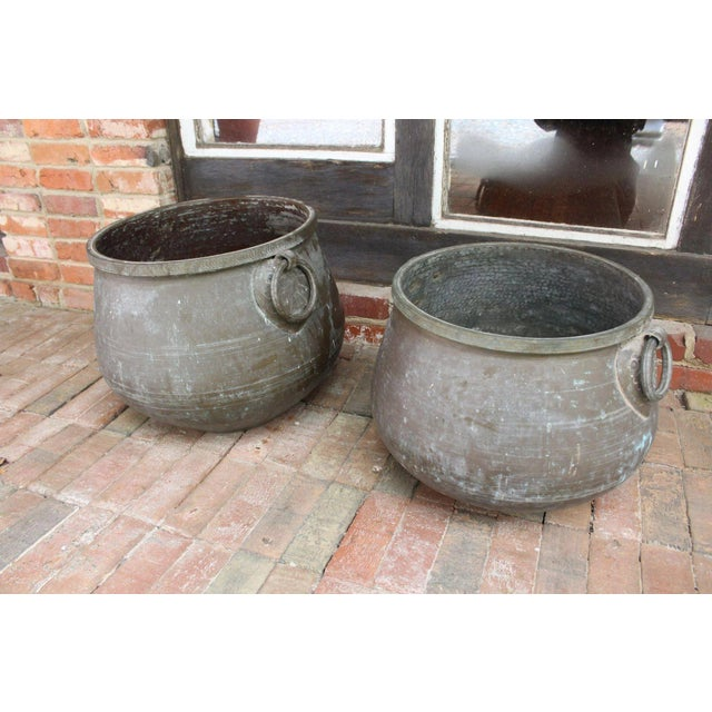 20th Century Traditional Bronze Jardineres - a Pair For Sale - Image 4 of 8