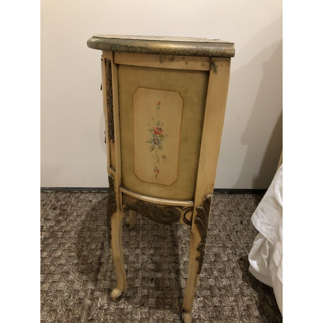 French style two drawer nightstand. Made in the 1940s.