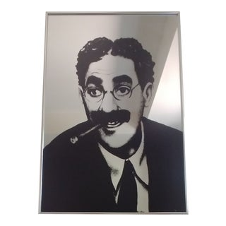 Vintage Groucho Marx Mirrored Wall Art For Sale