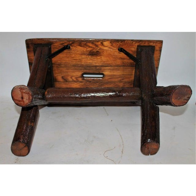 Old Hickory Furniture Co. Bench For Sale - Image 10 of 11