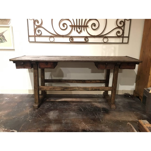 20th Century French Country Work Table For Sale - Image 13 of 14