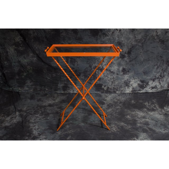 1960s Orange Butler's Tray Table For Sale - Image 9 of 9