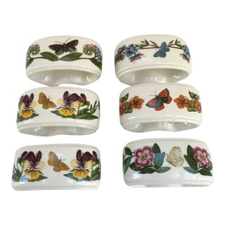 Portmeirion Botanic Garden Napkin Rings - Set of 6