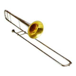 Vintage 1921 Conn 4h Silver Slide Trombone W/ Original Case & Original Conn Mouthpiece For Sale