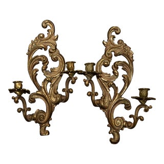 Louis XV Style Candle Sconces - A Pair