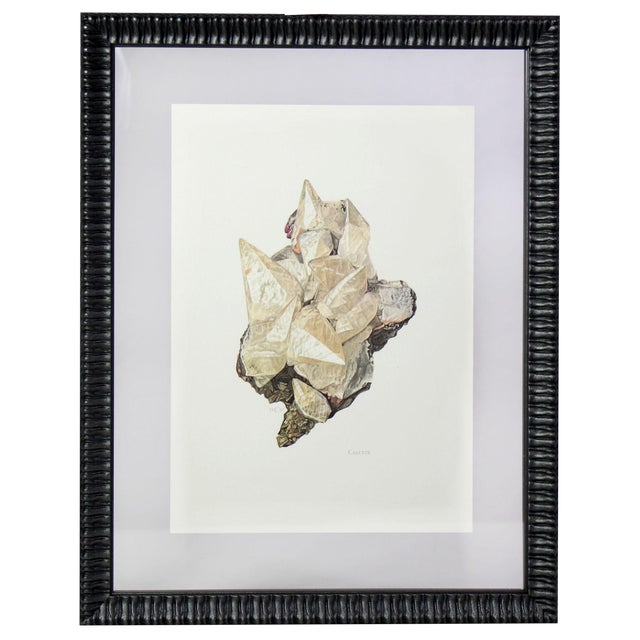 1940s Antique French Gemstone Mineralogy Study Lithographs Prints - Set of 10 For Sale - Image 5 of 13