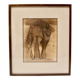 Rico Lebrun Vintage 1940s Drawing Social Realism Midcentury New York Art For Sale