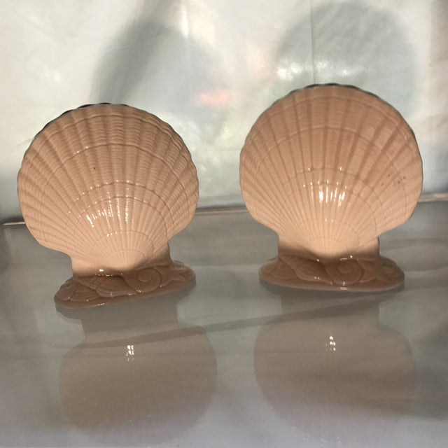 Vintage Larry Laslo for Mikasa Pink Seashell Vases - a Pair For Sale In New York - Image 6 of 6