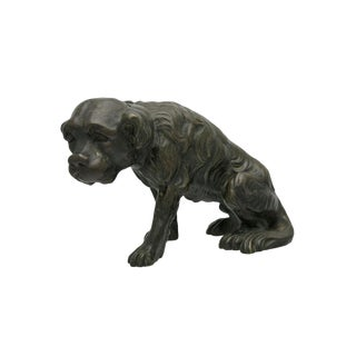 Late 19th Century Vintage Bronze Dog Sculpture For Sale