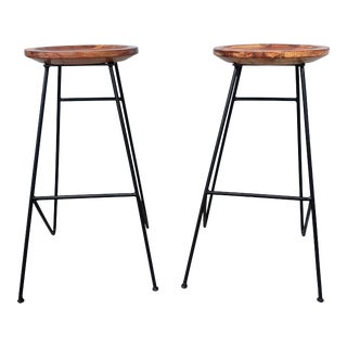 1950s Mid Centruty Modern Barstools - a Pair For Sale