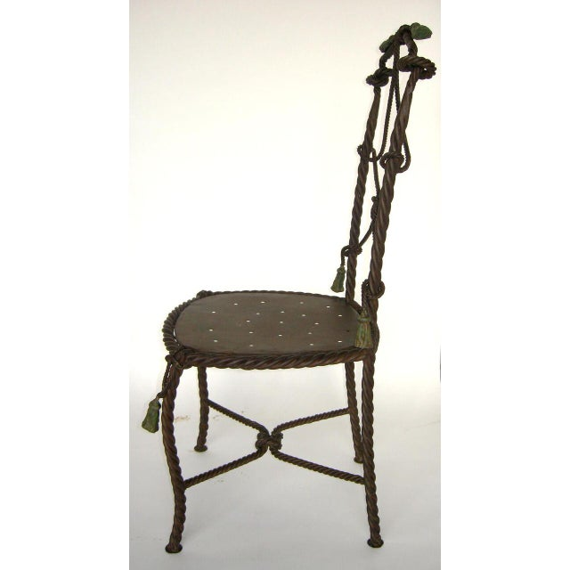 Early 20th Century Antique French Cast Iron Garden Cafe Chairs For Sale - Image 5 of 11