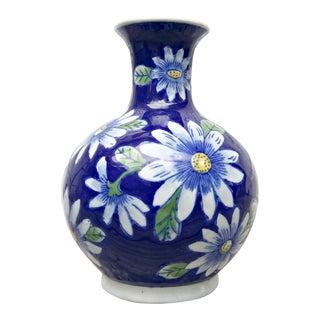 Blue & White Daisy Vase